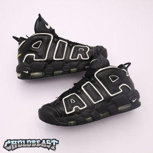 Nike Air Uptempo 2006 Black leather Sz 8 Vtg 90s